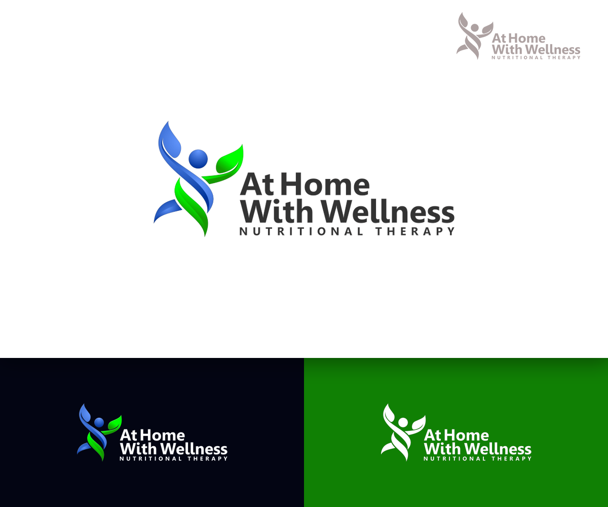 Elegant, Playful, Health And Wellness Logo Design for At Home With