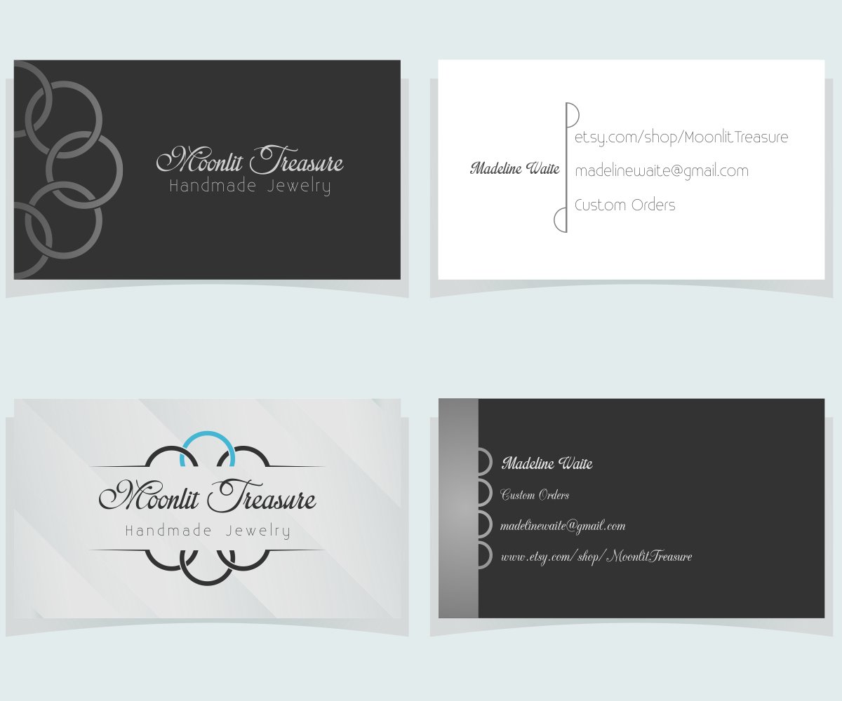 Feminine, Colorful Business Card Design for Moonlit Treasure by ...
