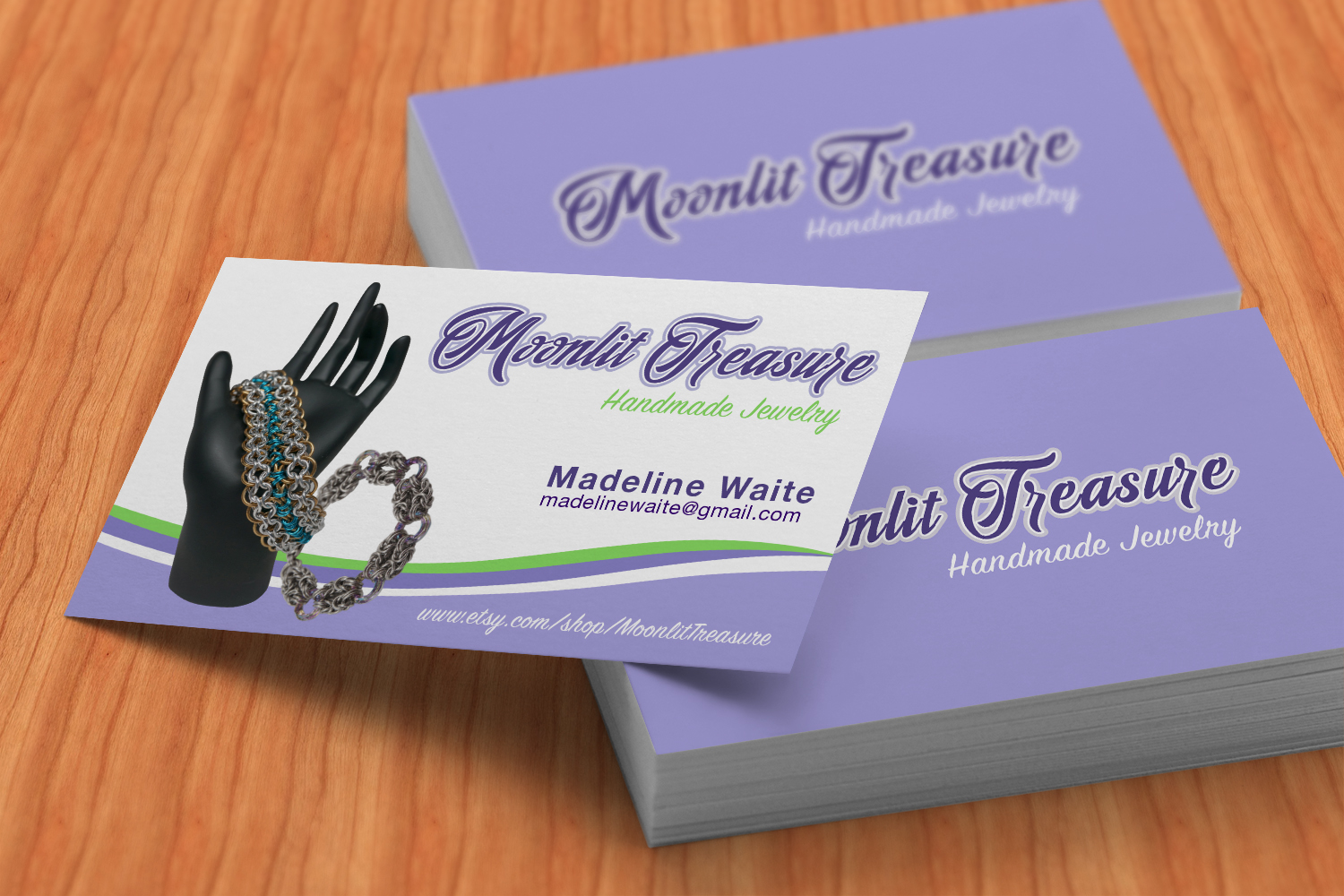 Feminine, Colorful, Jewelry Business Card Design for Moonlit ...