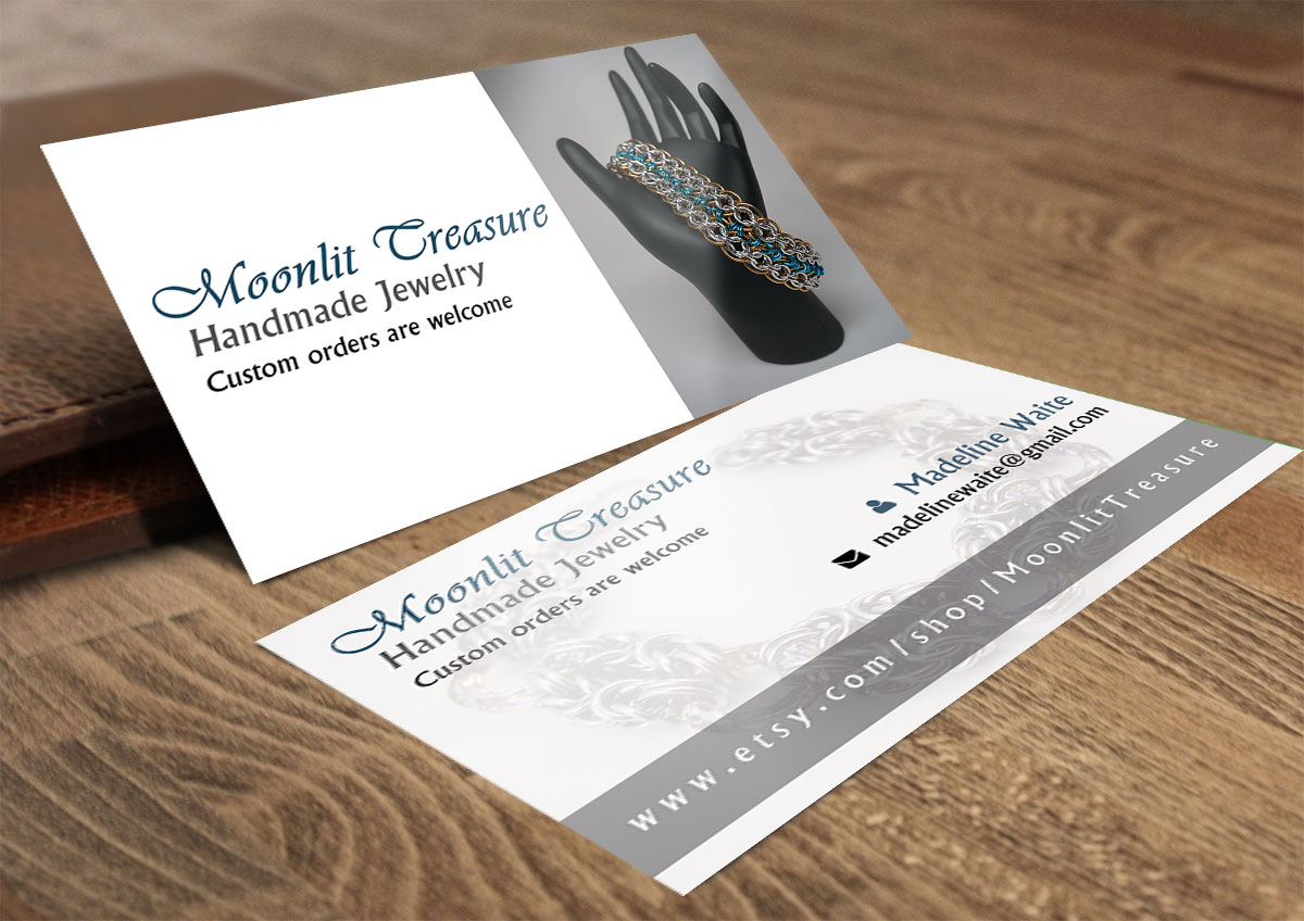 Feminine, Colorful Business Card Design for Moonlit Treasure by Feel ...