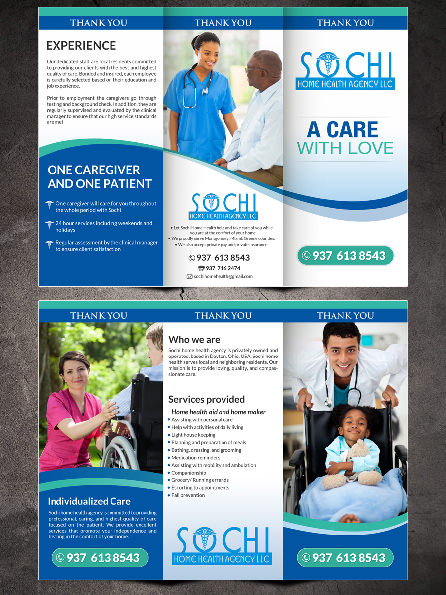 Home health brochure design home design and style for Healthy home designs