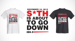 T-shirt Design by K.M.Nguyen - Star Wars Force Awakens Release date countdown  ...