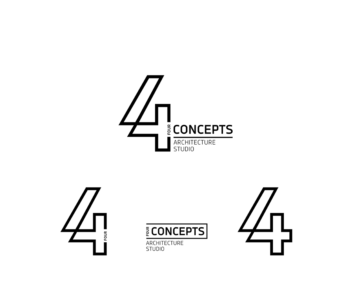 Serious modern logo design for 4 concepts by galin for Architecture design company