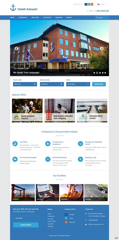 Modern Bold Hospitality Web Design For Itmc By Pb