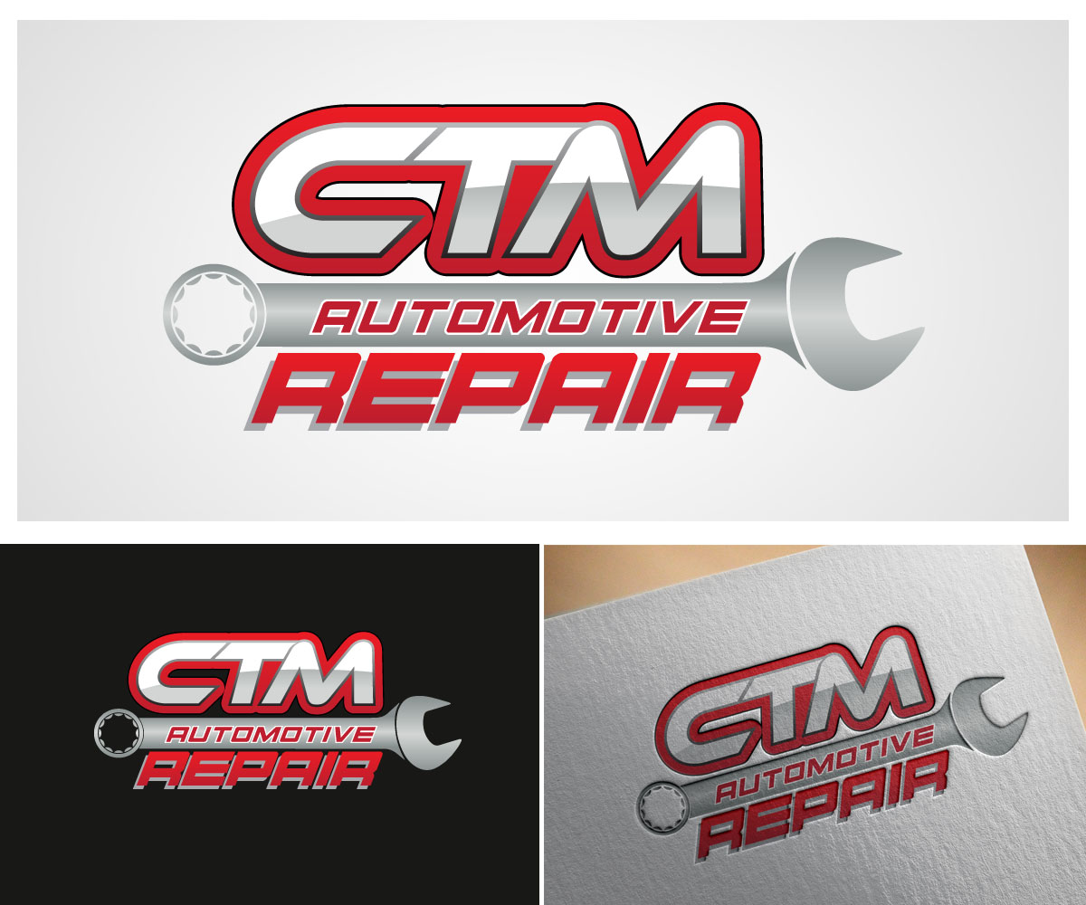 Bold Masculine Automotive Logo Design For Diy Garage By: Bold, Serious, Automotive Logo Design For CTM Repair
