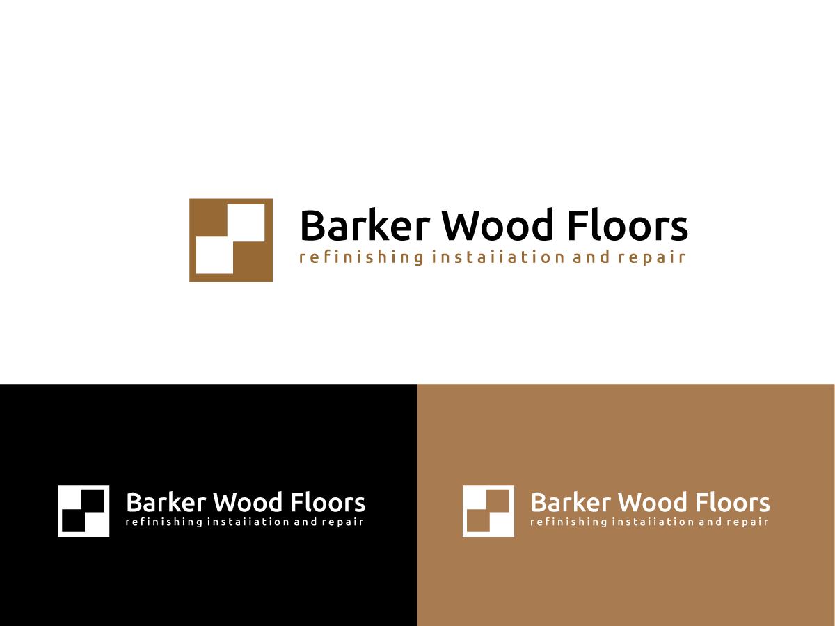 Masculine bold logo design for barker wood floors by anyl for Floor and decor logo