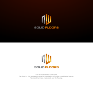 Beautiful Logo Design For NW Solid Floors By Lelevien