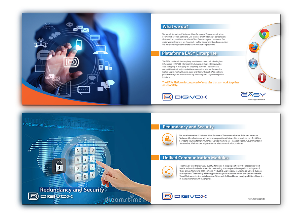 upmarket elegant software catalogue design for a company by