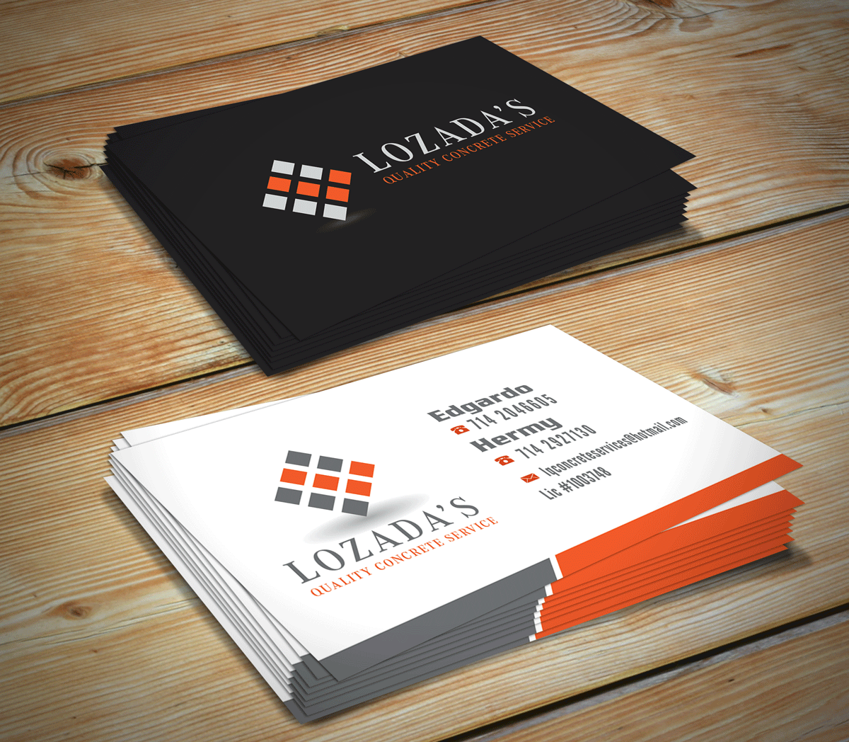 Concrete Company Business Cards   Arts - Arts