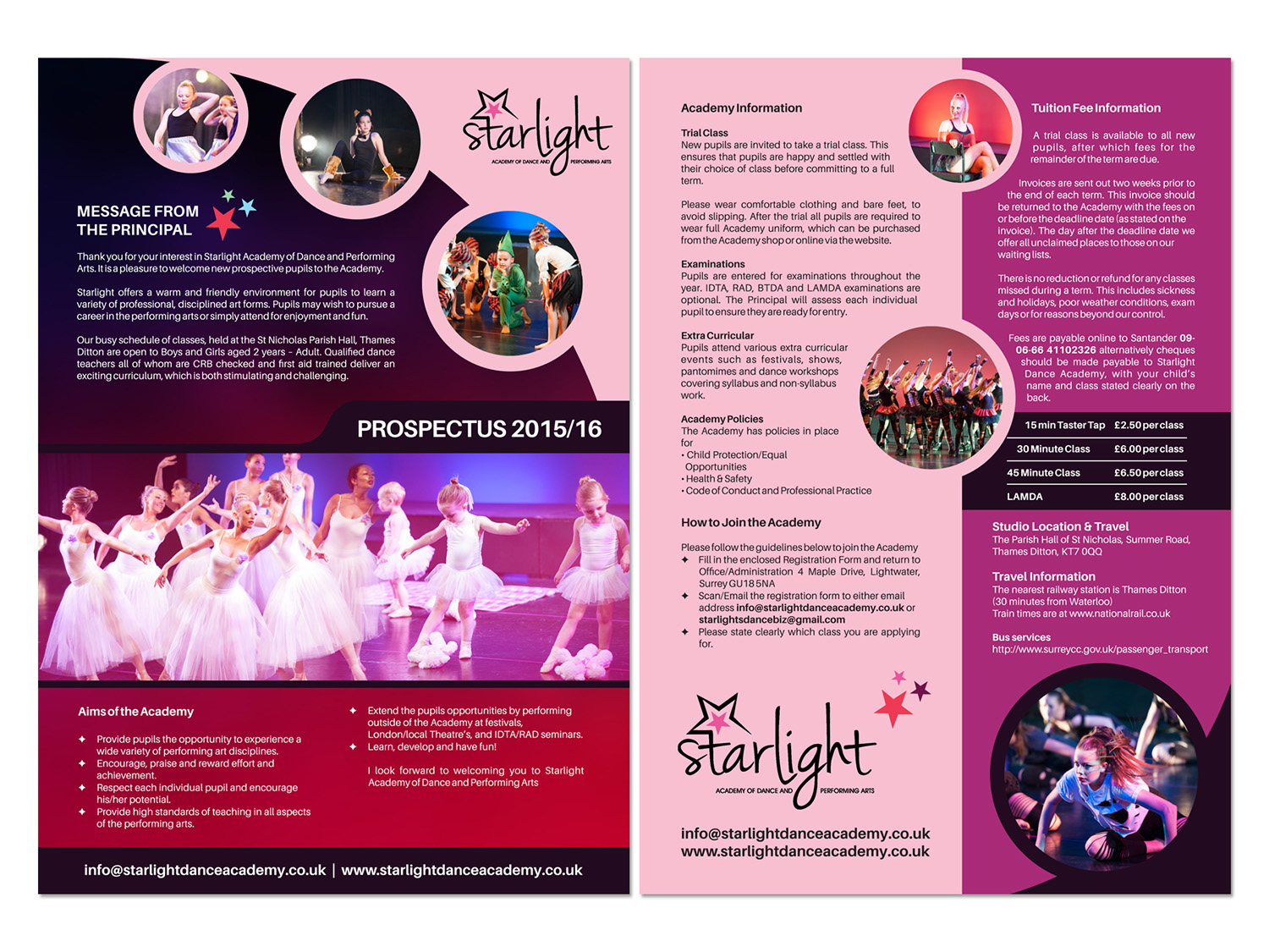 Elegant, Playful Flyer Design for Starlight Dance Academy by kps ...
