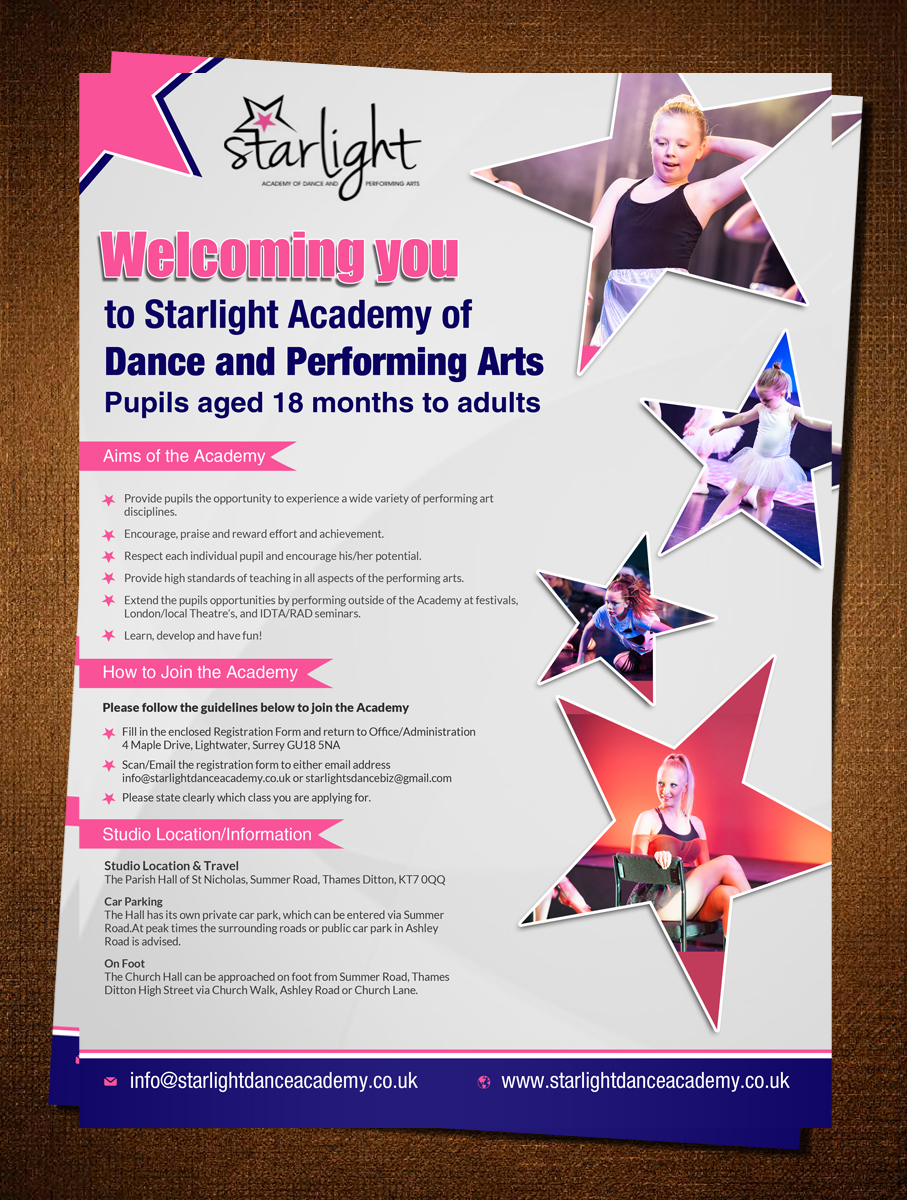 Elegant, Playful Flyer Design for Starlight Dance Academy by ...