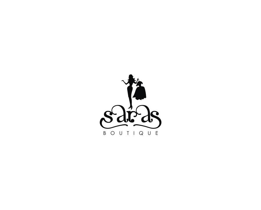 business logo design for saras boutique by aq2 design