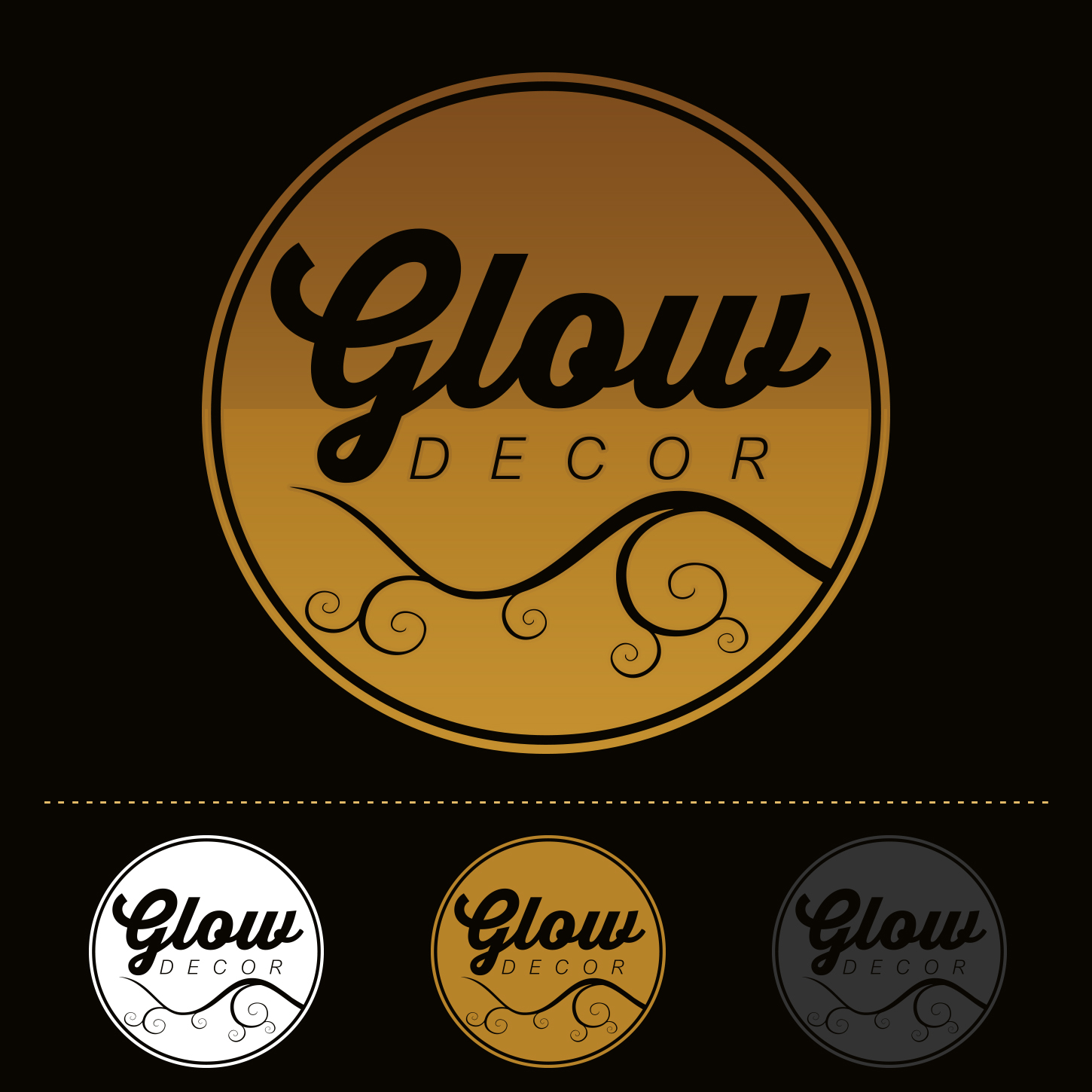 Feminine, Traditional, Home And Garden Logo Design for Glow Decor by ...
