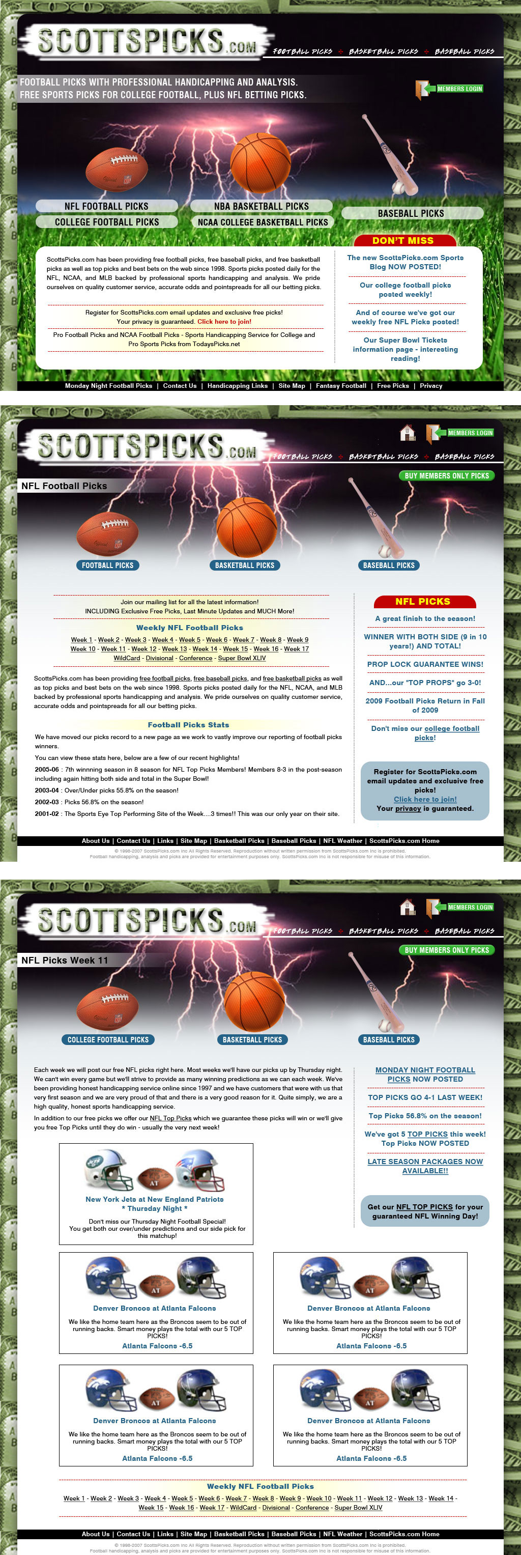 Web Design job – ScottsPicks.com Redesign - PSD Home Page + 2 Templates – Winning design by BrandOne