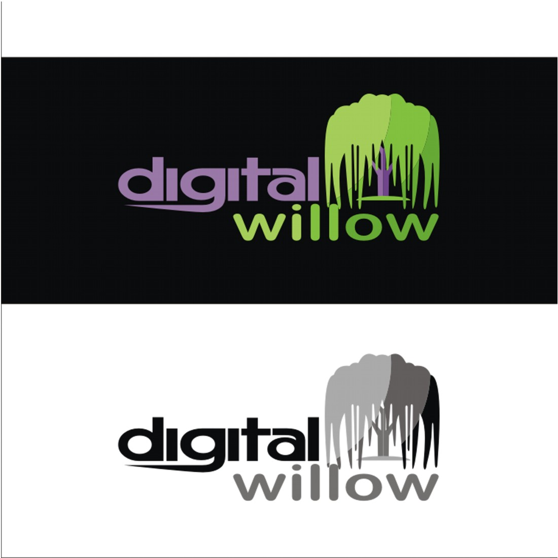 Modern, Colorful, Marketing Logo Design for Digital Willow by jos