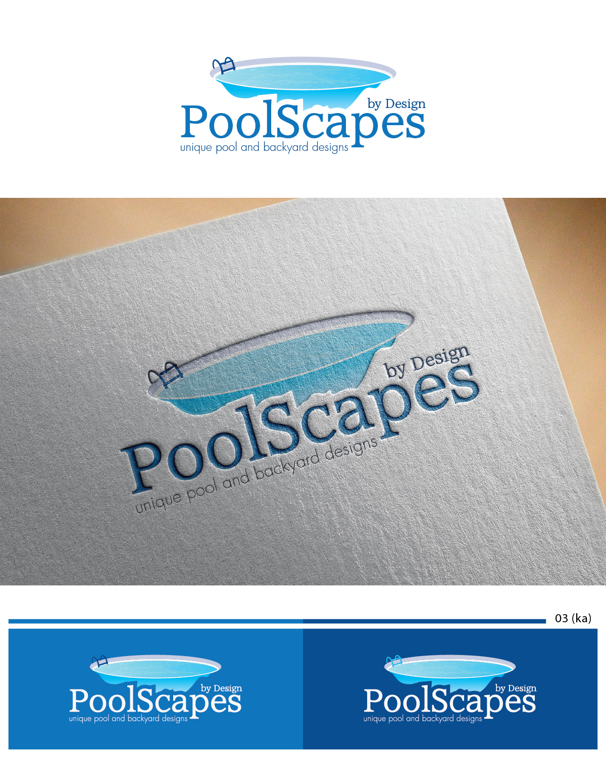 Logo design for susan lankheet by esolbiz design 6769294 for Pool design logo
