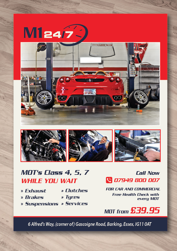 Bold serious car repair flyer design for beauty by zara for Garage fiat flers