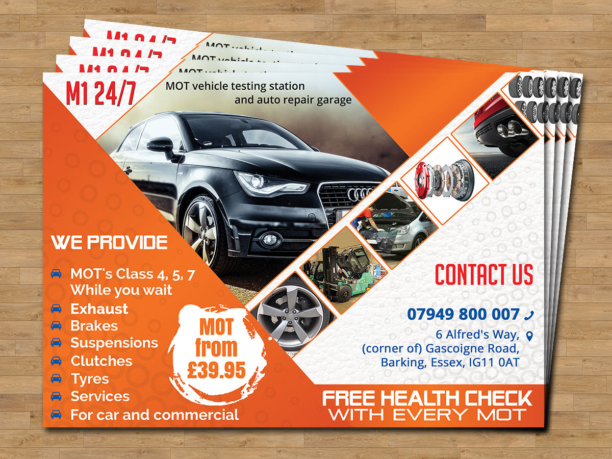 new car garage flyers