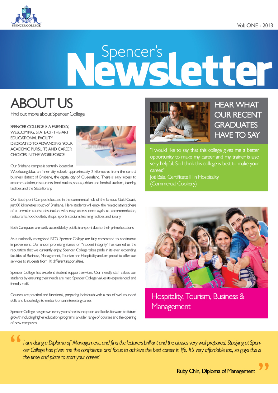 advertising newsletter design for a company by asa designer design