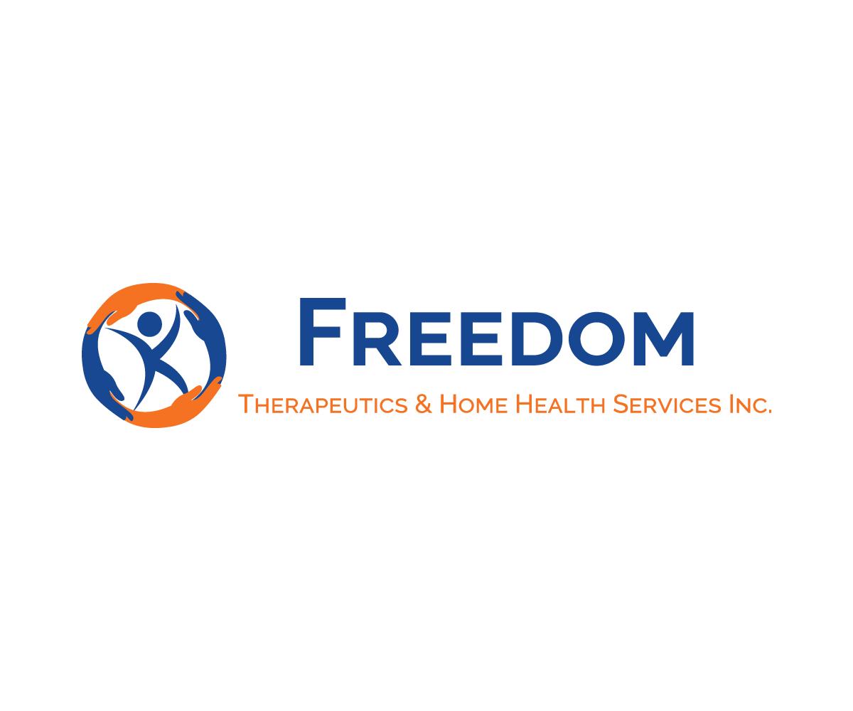 Professional Colorful Home Health Care Logo Design For Freedom Therapeutics Home Health