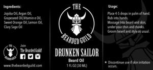 Label Design by 3P International - Label design for Beard Oil Bottle