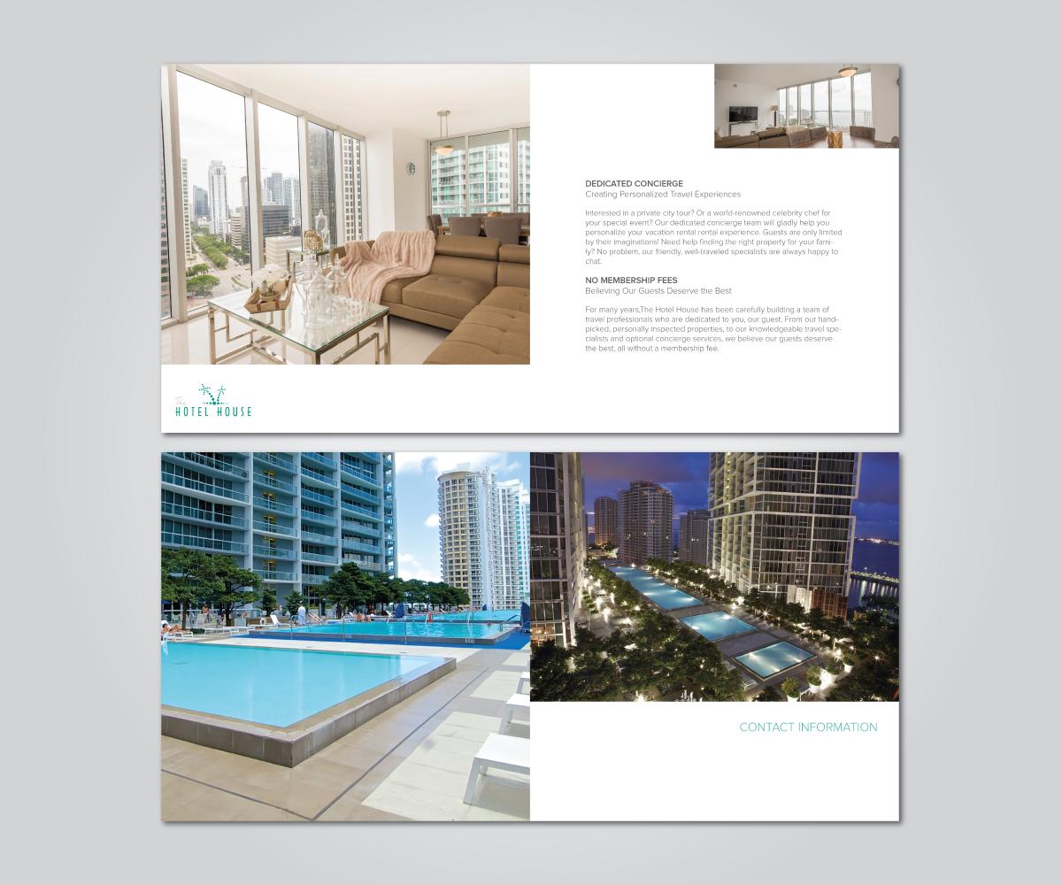 Moderne audacieux hotel design de brochure for a company for Hotel design studio