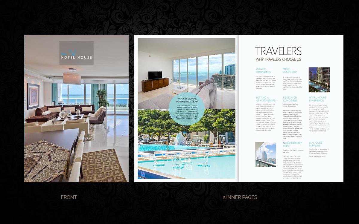 Moderne audacieux hotel design de brochure for a company for Hotel design ce
