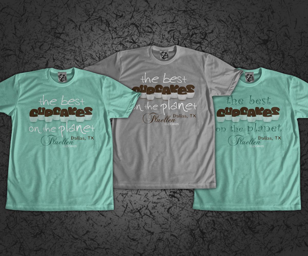 Shirt design dallas tx - T Shirt Design By Jd_teedesigns For Fluellen Cupcakes T Shirt Design Project Design