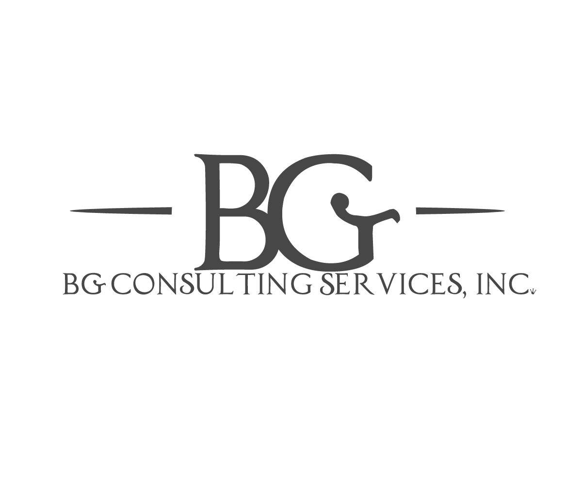 professional  masculine  management consulting logo design for bg consulting services  inc  by