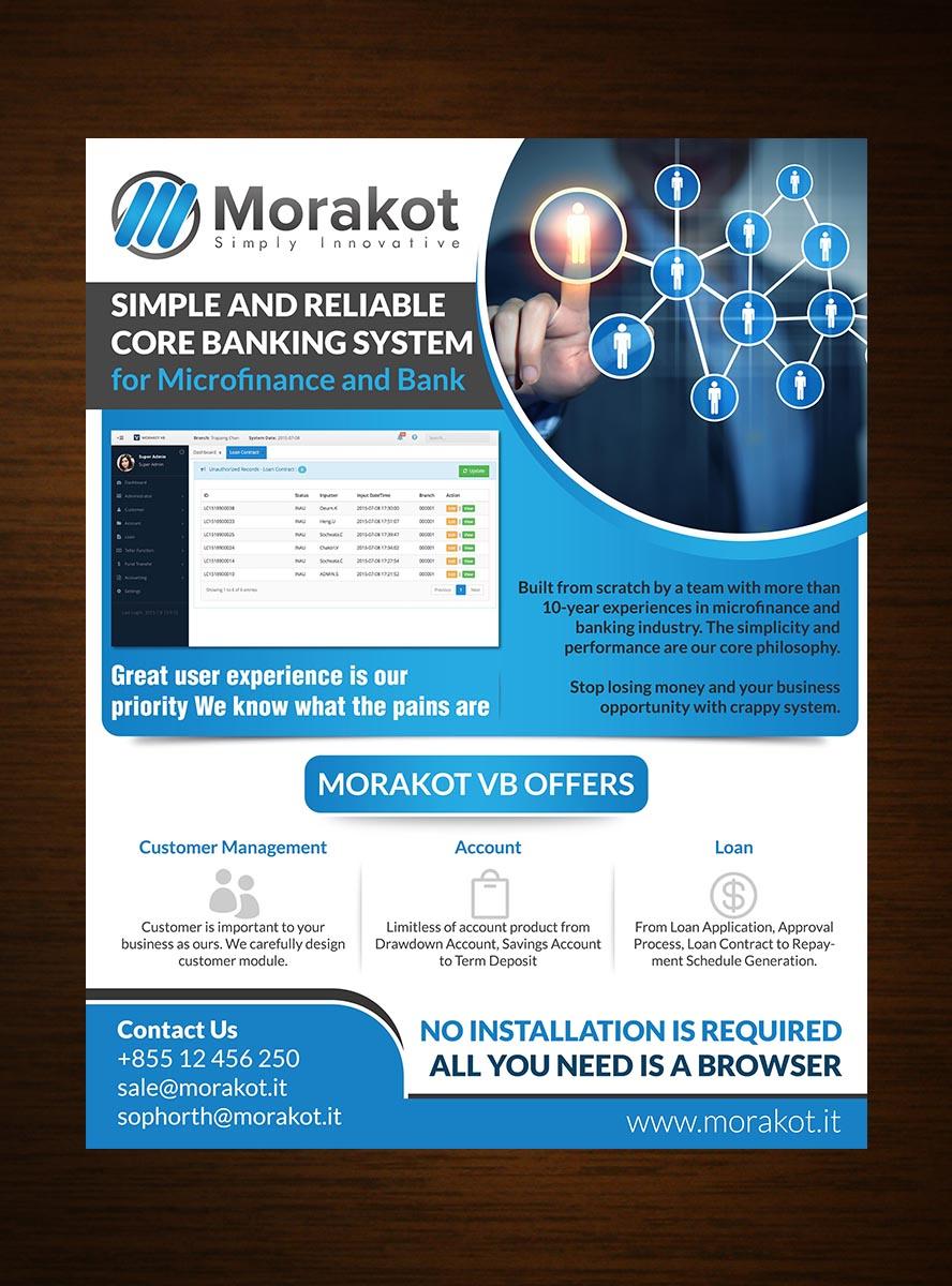 professional serious business software flyer design for morakot