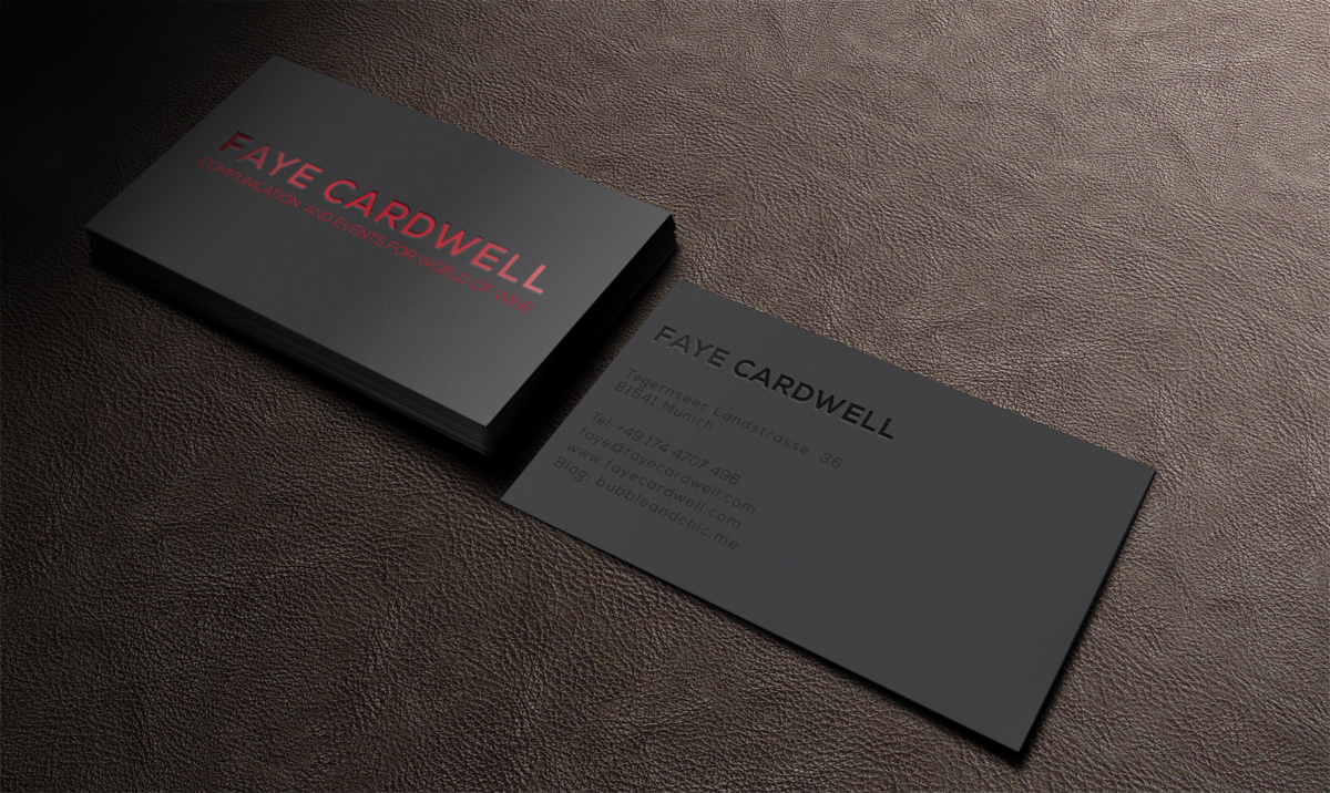 Business Card Design By Mt For International Wine Events Organiser Seeks Simple But Stunning
