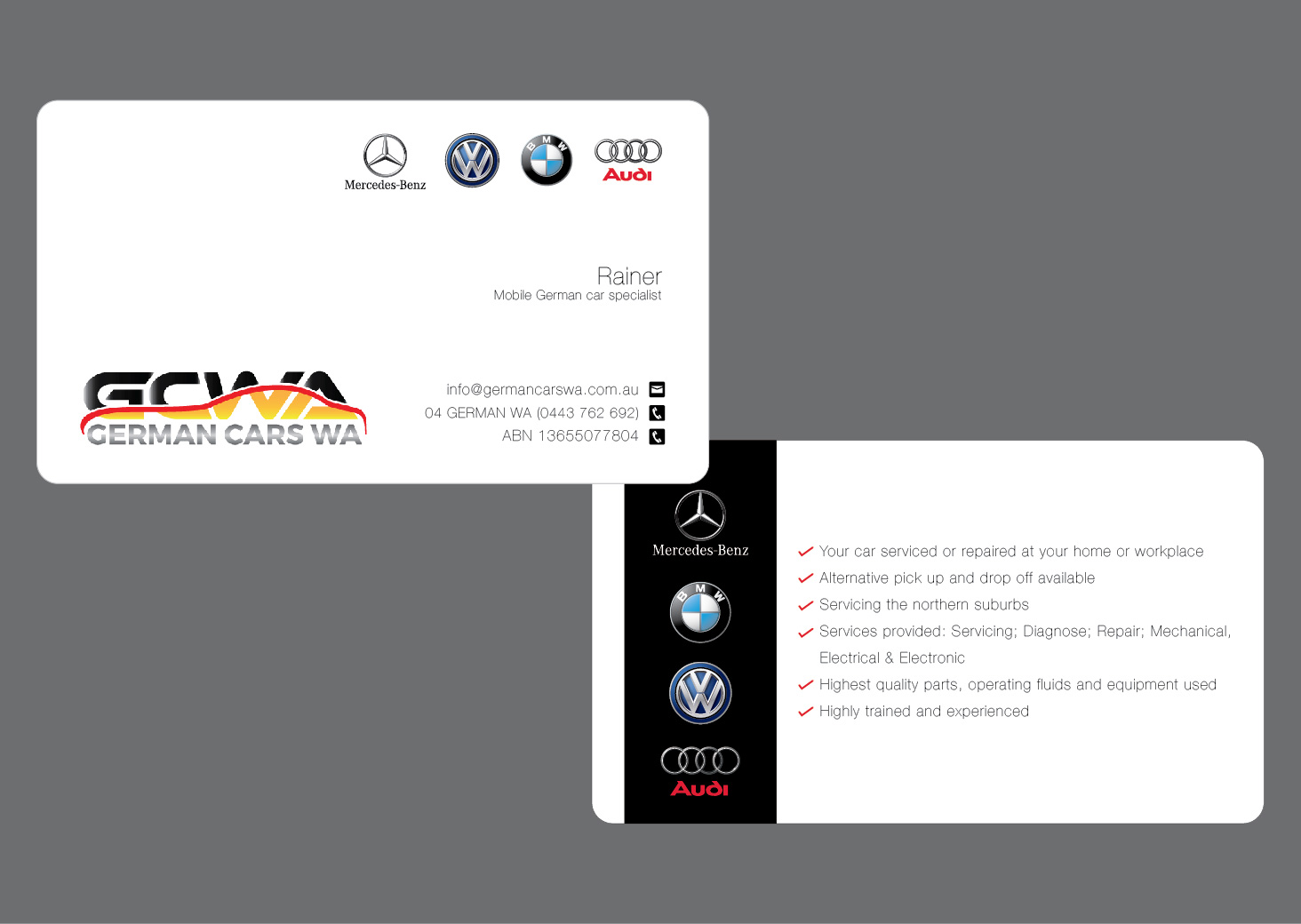 Modern, Professional, Automotive Business Card Design for a Company ...