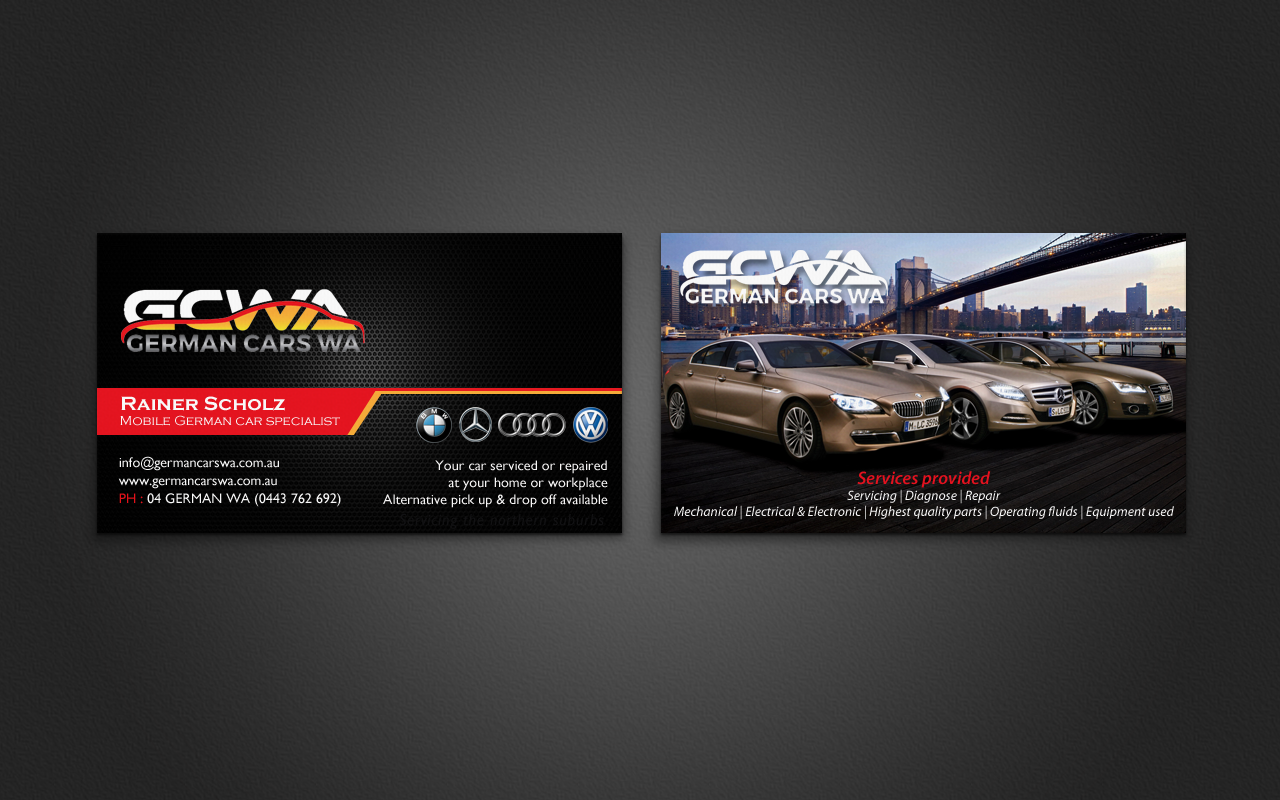 Modern, Professional Business Card Design for Rainer A Scholz ...
