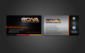 62 modern business card designs automotive business card design business card design by chandrayaaneative for this project design 6872031 colourmoves