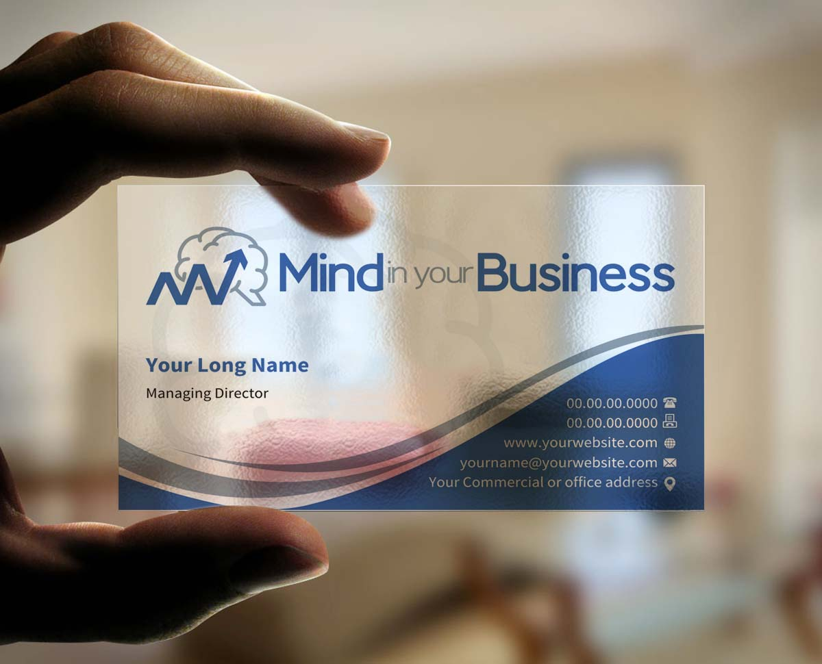 Serious modern mental health business card design for mind in your business card design by indianashok for mind in your business design 6809727 colourmoves