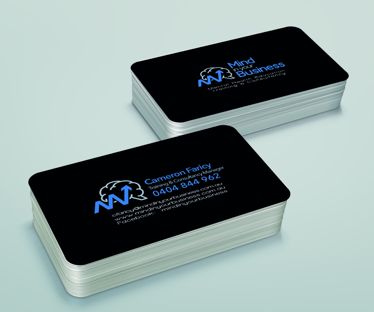 Serious Modern Mental Health Business Card Design For Mind In Your