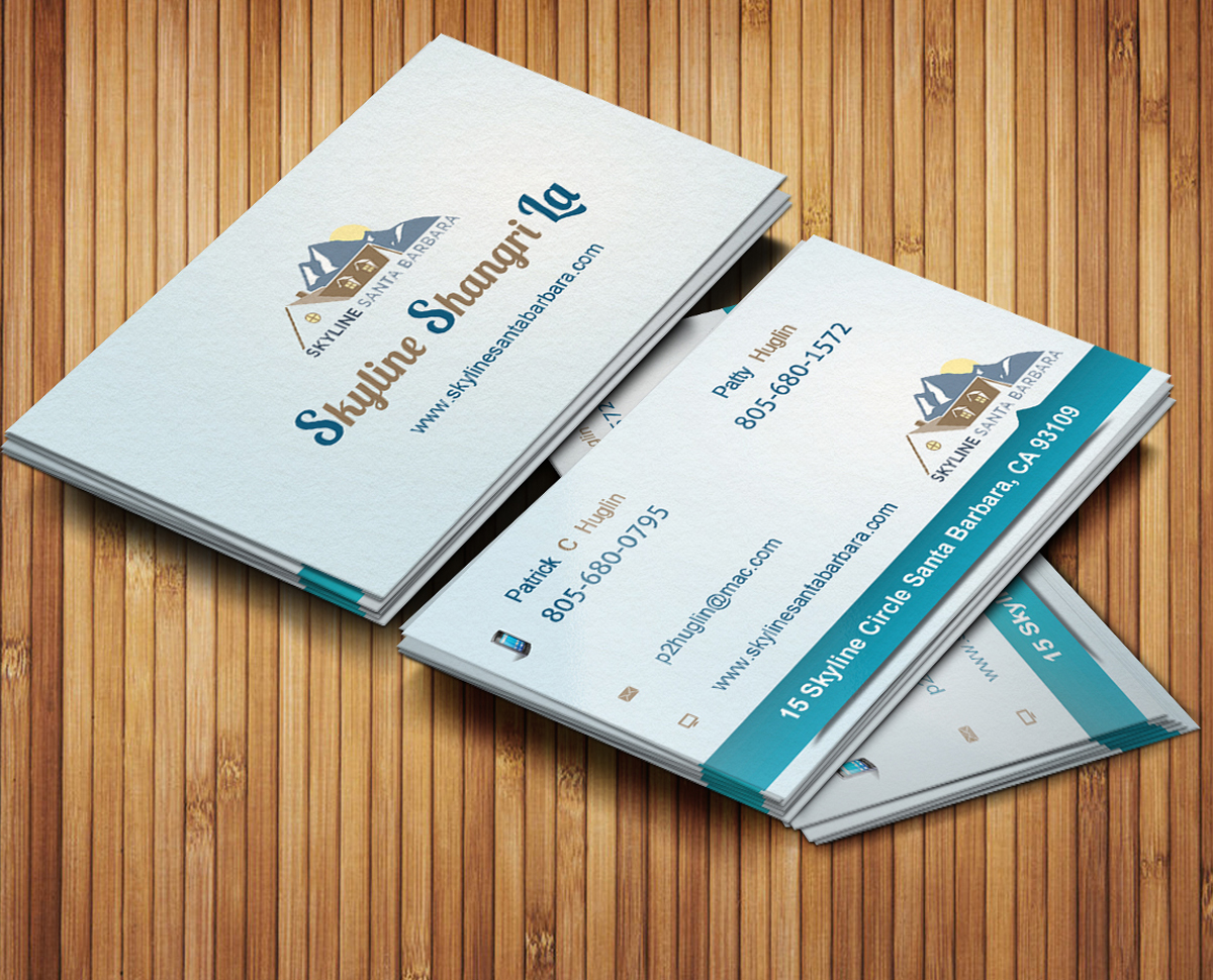 Serious Professional Rental Business Card Design For Skyline Santa