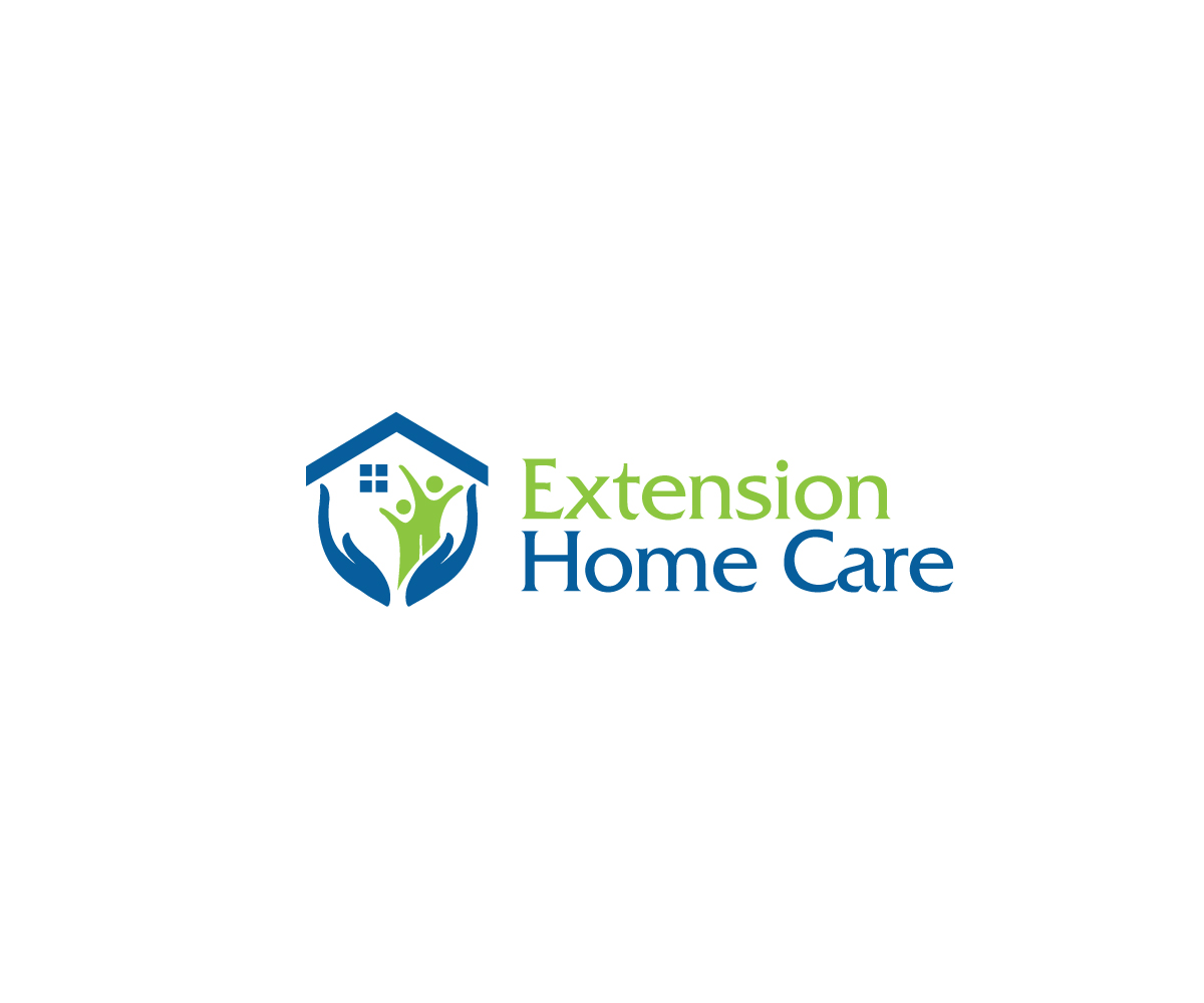 Elegant Playful Home Health Care Logo Design For Extension Home Care By Creativepowertouch