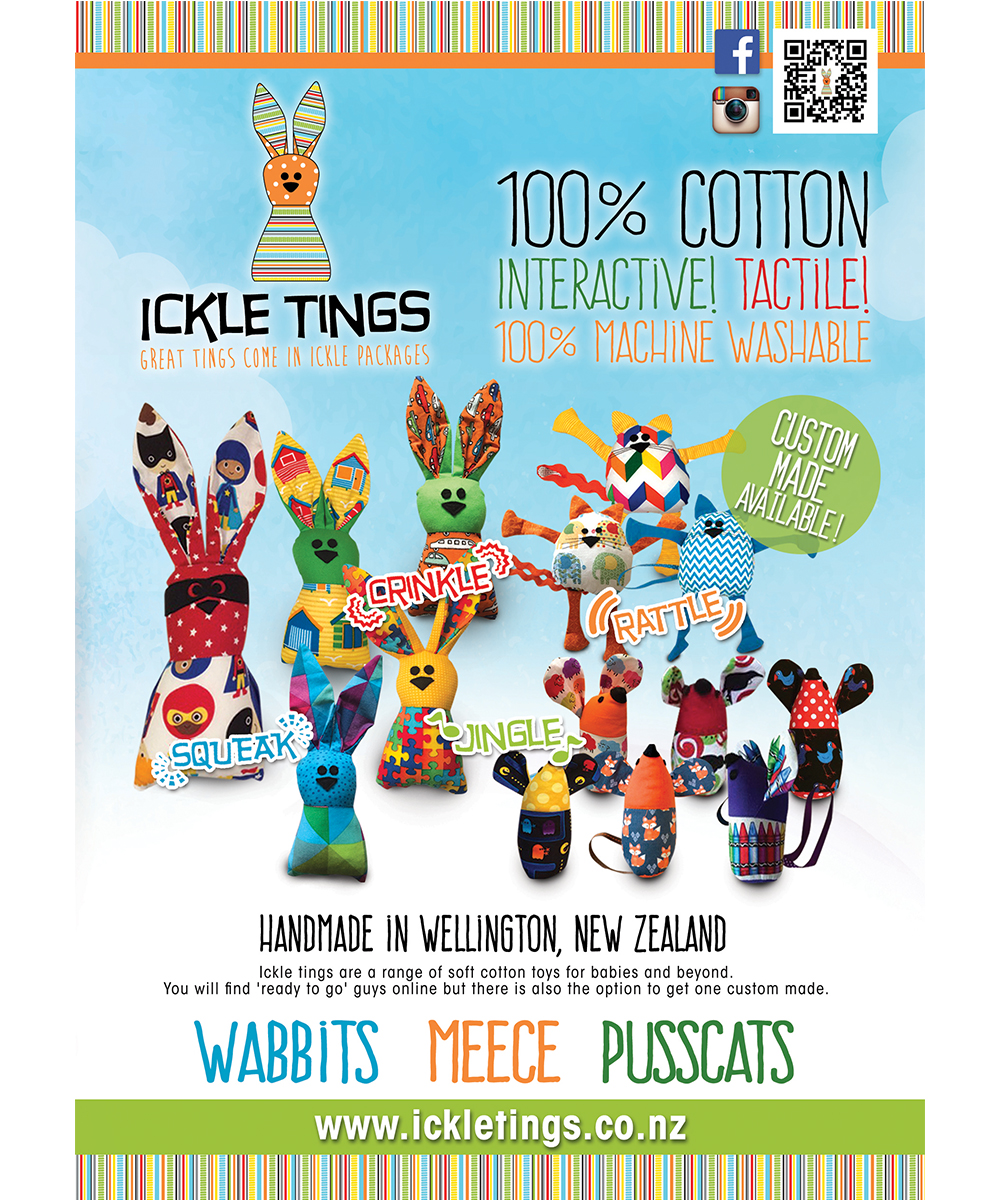 Colorful Playful Toy Store Flyer Design For Ickle Tings By