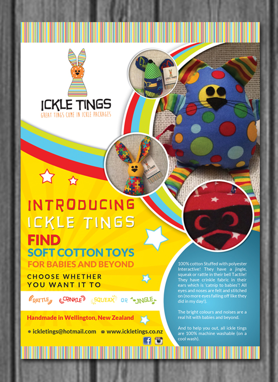 Colorful Playful Toy Store Flyer Design For Ickle Tings By Hih7