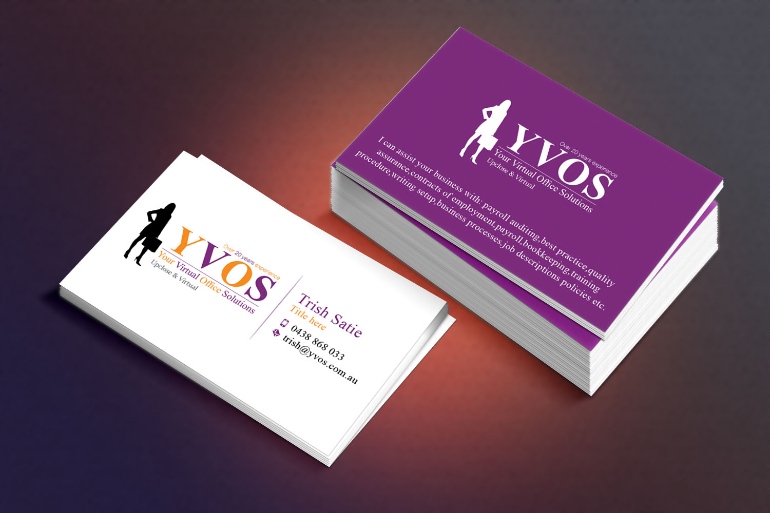 Modern professional business business card design for yvos your business card design by sandaruwan for yvos your virtual office solutions design 6822502 reheart Image collections