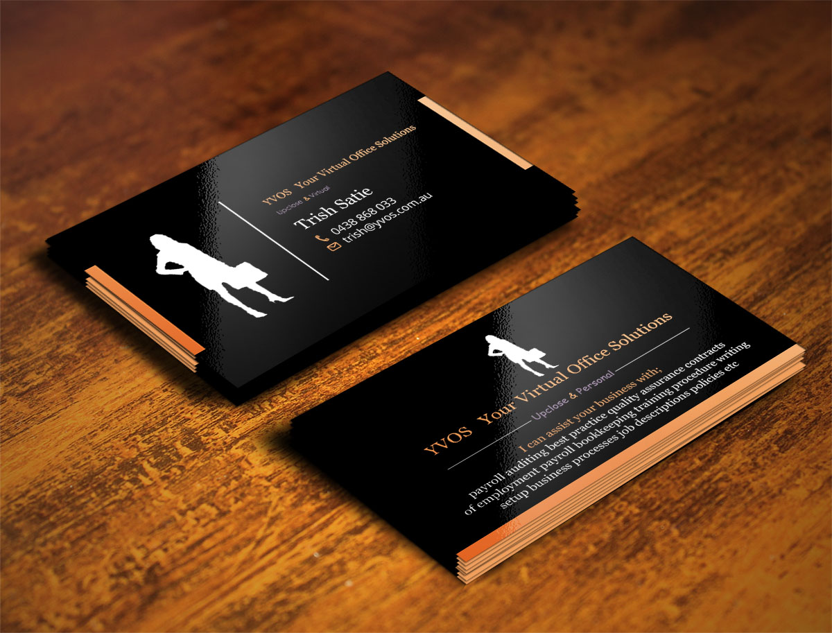 Modern professional business business card design for yvos your business card design by design xeneration for yvos your virtual office solutions design reheart Image collections