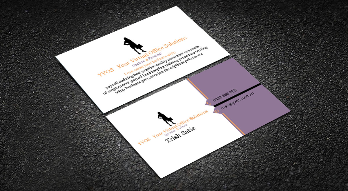 Modern professional business business card design for yvos your business card design by design xeneration for yvos your virtual office solutions design reheart Gallery