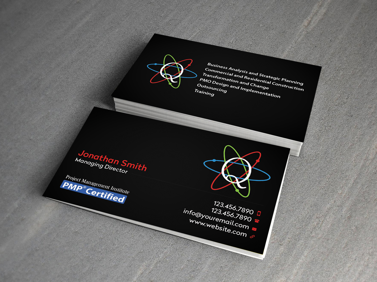 Serious upmarket business card design for quantum aspects limited business card design by creations box 2015 for construction project management and general project management consultancy magicingreecefo Images