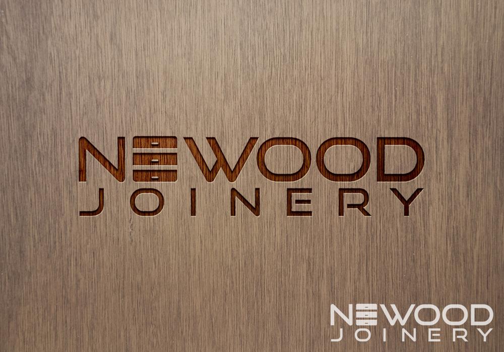 Modern Upmarket Logo Design For Newood Joinery By RM