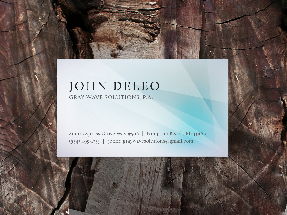 Elegant, Playful Business Card Design for John DeLeo by M.U. Designs ...
