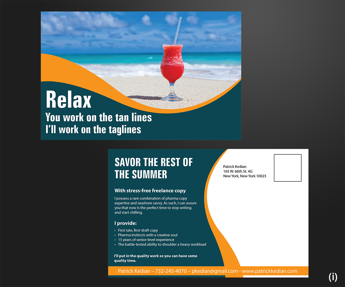 Bold, Upmarket, Pharmaceutical Postcard Design for a Company by