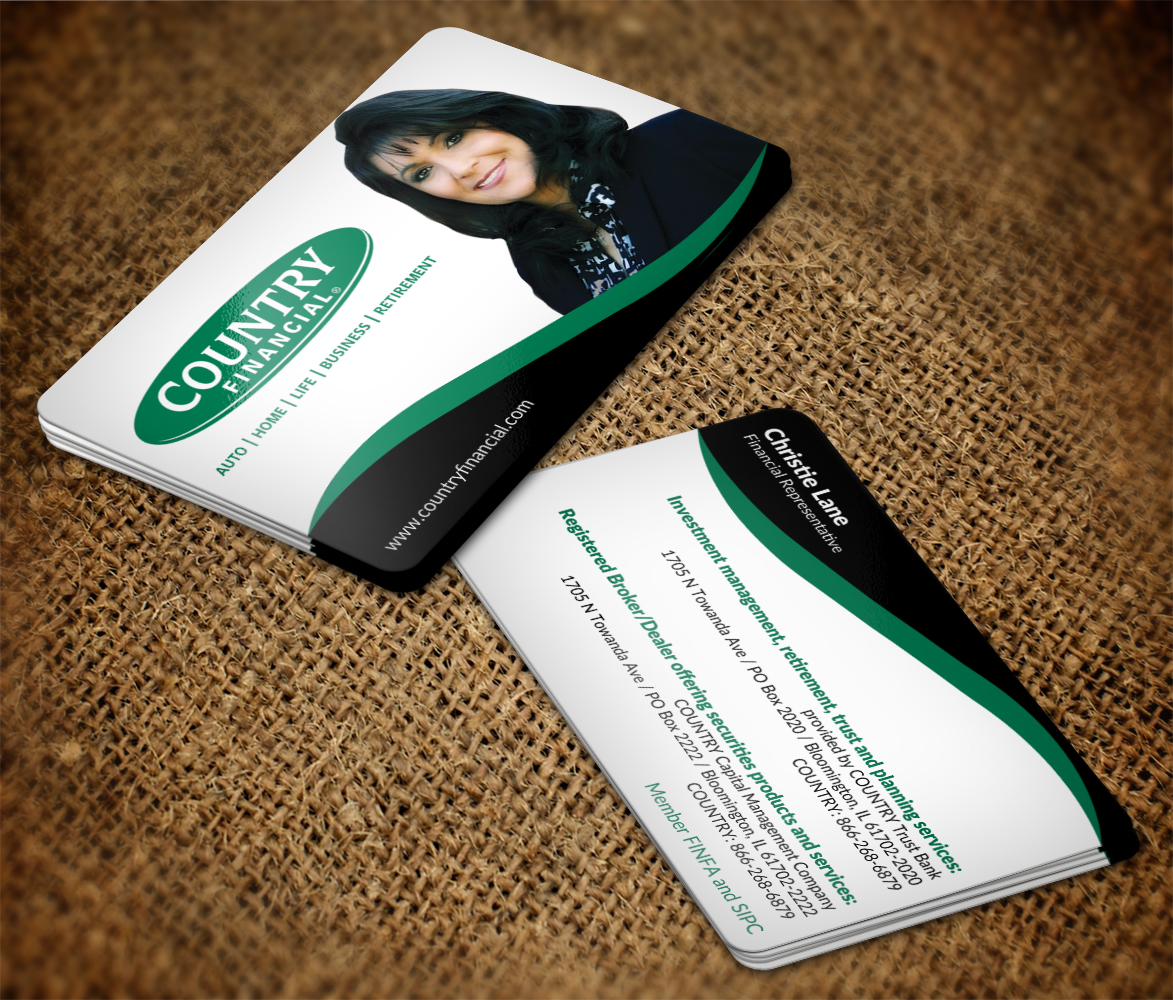 Serious, Feminine, Business Business Card Design for Country ...