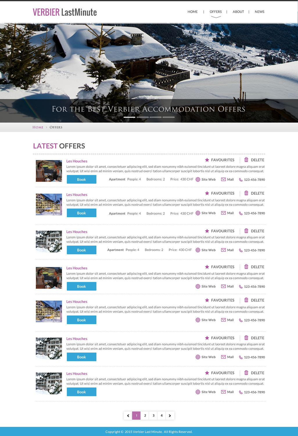 Modern Playful Accommodation Web Design For A Company By