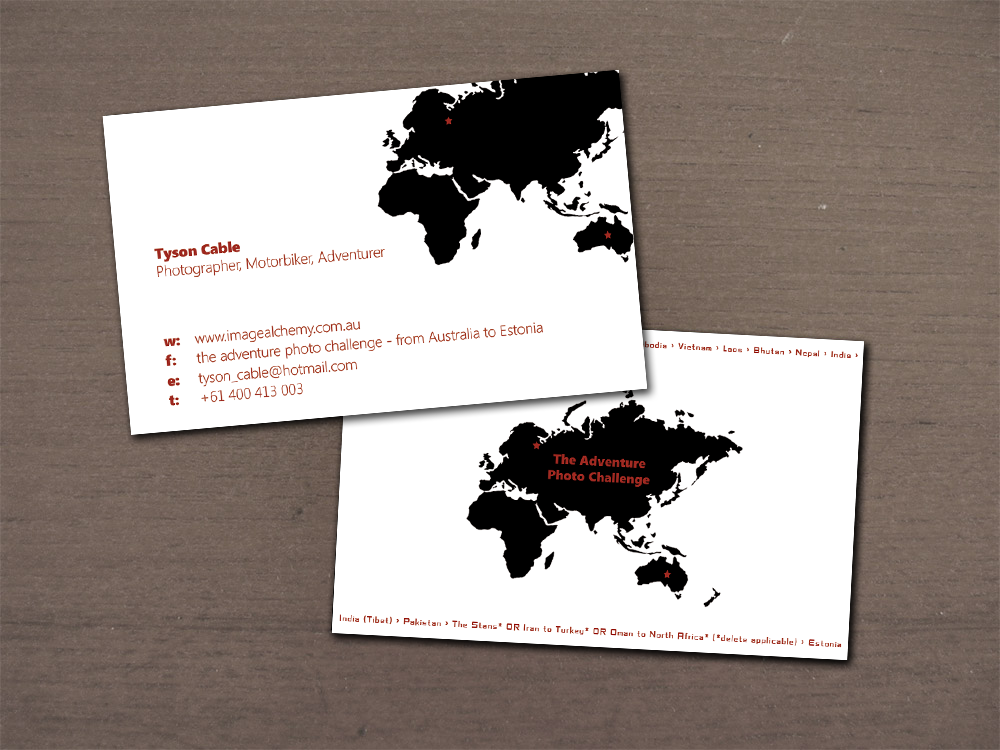 Professional Serious Business Business Card Design For Co Darwin